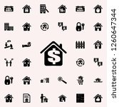 dollar in the house icon. real... | Shutterstock .eps vector #1260647344