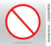 forbidden icon vector... | Shutterstock .eps vector #1260649834