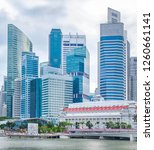 singapore city skyline with... | Shutterstock . vector #1260661141