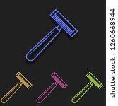 shaver icon in multi color....