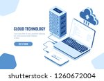 the scheme of data transmission ... | Shutterstock .eps vector #1260672004