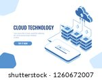 cloud technology storage and... | Shutterstock .eps vector #1260672007