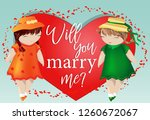 happy valentine's day. a pair... | Shutterstock .eps vector #1260672067