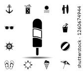 ice cream icon. simple glyph...