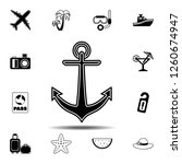 anchor  armature icon. simple...