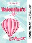 greeting card  happy valentine... | Shutterstock .eps vector #126068009