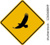 traffic sign wildlife eagle | Shutterstock .eps vector #126068849