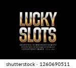 vector casino logotype lucky... | Shutterstock .eps vector #1260690511