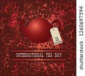 poster world tea day  teapot... | Shutterstock .eps vector #1260697594