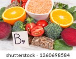 nutritious products containing... | Shutterstock . vector #1260698584