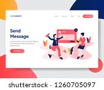 landing page template of send...