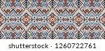 ikat geometric folklore... | Shutterstock .eps vector #1260722761