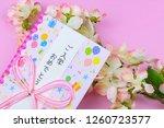 congratulatory gift image of... | Shutterstock . vector #1260723577