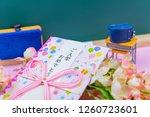 congratulatory gift image of... | Shutterstock . vector #1260723601