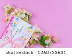 congratulatory gift image of... | Shutterstock . vector #1260723631