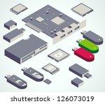 usb element memory card set | Shutterstock .eps vector #126073019