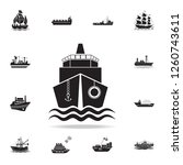 ship front view icon. detailed... | Shutterstock .eps vector #1260743611