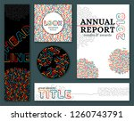 corporate identity set  memphis ... | Shutterstock .eps vector #1260743791