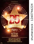 luxury 25th anniversary award...   Shutterstock .eps vector #1260746224