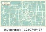 medan indonesia city map in... | Shutterstock . vector #1260749437
