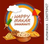 illustration of makar sankranti ... | Shutterstock .eps vector #1260753427