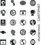 solid black vector icon set  ... | Shutterstock .eps vector #1260759487