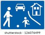 traffic sign traffic calming... | Shutterstock .eps vector #126076499