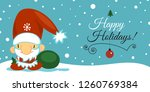 merry christmas and happy new... | Shutterstock .eps vector #1260769384