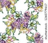 flower print. elegance seamless ... | Shutterstock .eps vector #1260779617