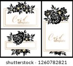 romantic wedding invitation... | Shutterstock . vector #1260782821