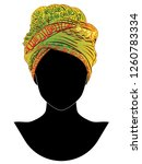 native fashion head wrap ... | Shutterstock .eps vector #1260783334