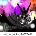 discotheque vector | Shutterstock .eps vector #126078401