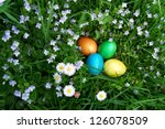 Colorful Easter Egg In The...