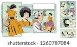 stock illustration. collage....   Shutterstock .eps vector #1260787084