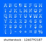 white architectural sketches of ... | Shutterstock .eps vector #1260792187
