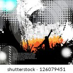 dance party | Shutterstock .eps vector #126079451
