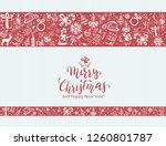 merry christmas with decorative ... | Shutterstock .eps vector #1260801787