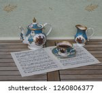 english teacup with saucer ... | Shutterstock . vector #1260806377