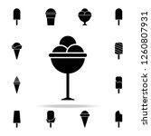 frozen balls in a saucer icon.... | Shutterstock . vector #1260807931