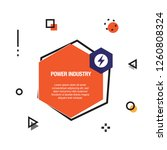 power industry infographic icon | Shutterstock .eps vector #1260808324