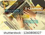 e learning and workplace concept | Shutterstock . vector #1260808327