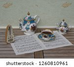 english teacup with saucer ... | Shutterstock . vector #1260810961