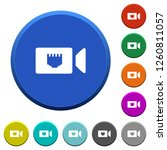 ip camera round color beveled... | Shutterstock .eps vector #1260811057