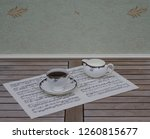 english teacup with saucer and... | Shutterstock . vector #1260815677