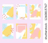 covers templates set in pastel... | Shutterstock .eps vector #1260815767