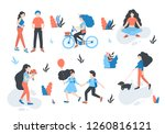 vector  people at park... | Shutterstock .eps vector #1260816121