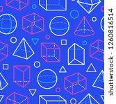 geometric shapes seamless... | Shutterstock .eps vector #1260816514
