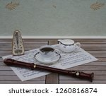 english teacup with saucer and... | Shutterstock . vector #1260816874