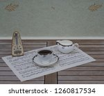 english teacup with saucer and... | Shutterstock . vector #1260817534
