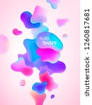 abstract 3d blue  pink and...   Shutterstock .eps vector #1260817681